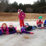Sledding Party at Oak Point Farm