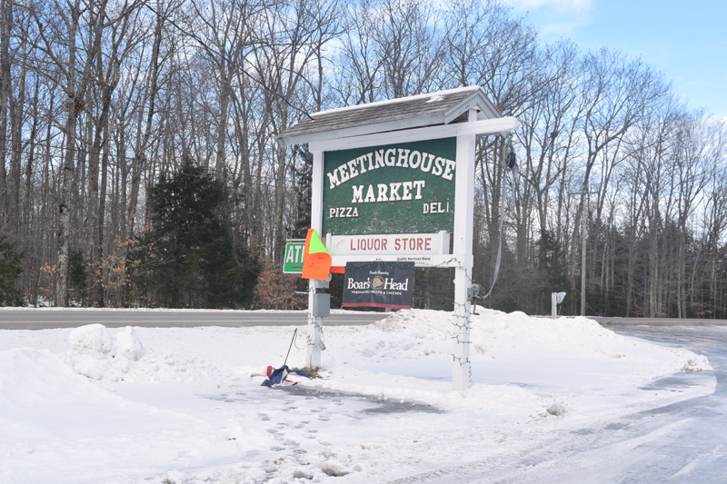 Meetinghouse Market, on Route 27 in Dresden, recently closed after about 14 years in business. (Jessica Clifford photo, LCN file)