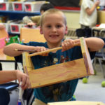 First-Graders Make Toolboxes at Miller School