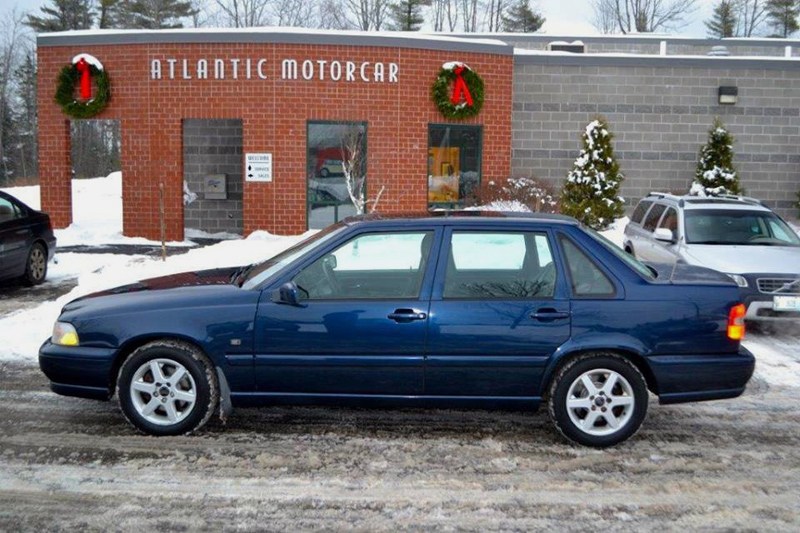 Atlantic Motorcar Center, of Wiscasset, gave this Volvo S70 to the Jones family, of Alna, in 2015. After using the car to transport their 14-year-old son to cancer treatment, the family regifted the car to another family with cancer treatment-related transportation needs. (Photo courtesy Atlantic Motorcar Center)