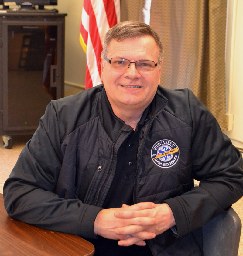 Dennis Simmons is the new director of emergency medical services in Wiscasset. (Charlotte Boynton photo)