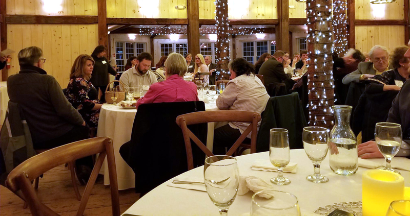 Attendees at the Wiscasset Area Chamber of Commerce's eighth annual award dinner at The 1812 Farm in Bristol on Thursday, Feb. 7.