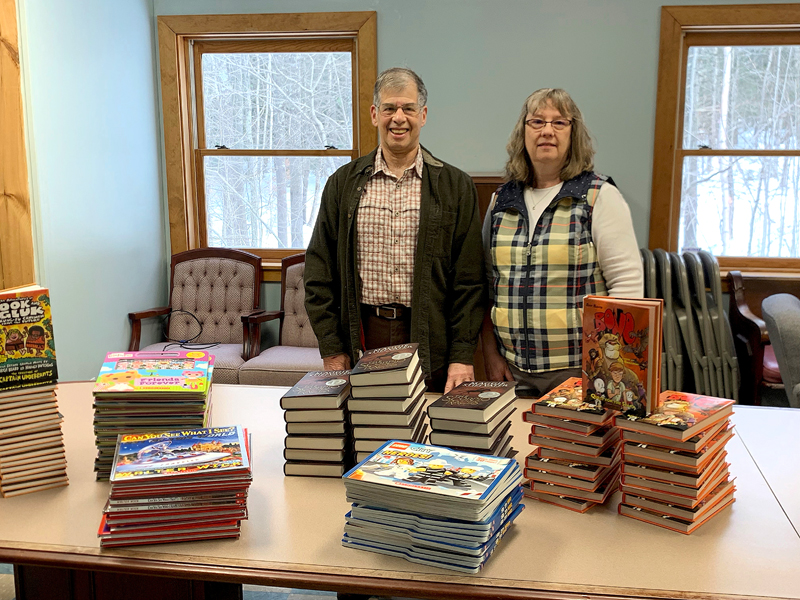 Scholastic, the global children's publishing, education, and media company, has donated over 100 hardcover books to Carol's Corner at Sheepscot Valley Health Center in Whitefield.