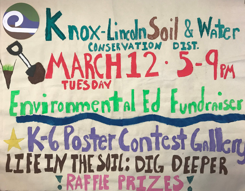 Knox-Lincoln Soil & Water Conservation District will hold an environmental education fundraiser at Flatbread Company, at 100 Commercial St./Route 1 in Rockport, on Tuesday, March 12 from 5-9 p.m.