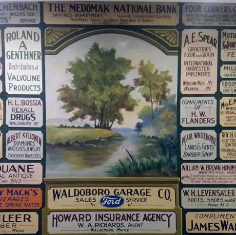 An antique Waldoboro theater curtain.