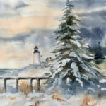 Peggy Farrell Watercolors at Bristol Area Library