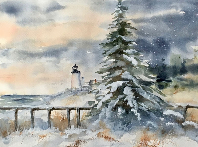 """Winter's Charm -- Pemaquid,"" by Peggy Farrell."