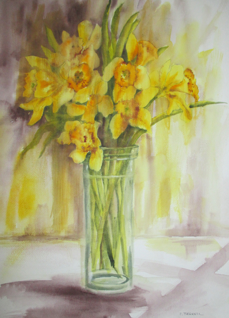 """Daffodils in the Window,"" by Peggy Farrell."