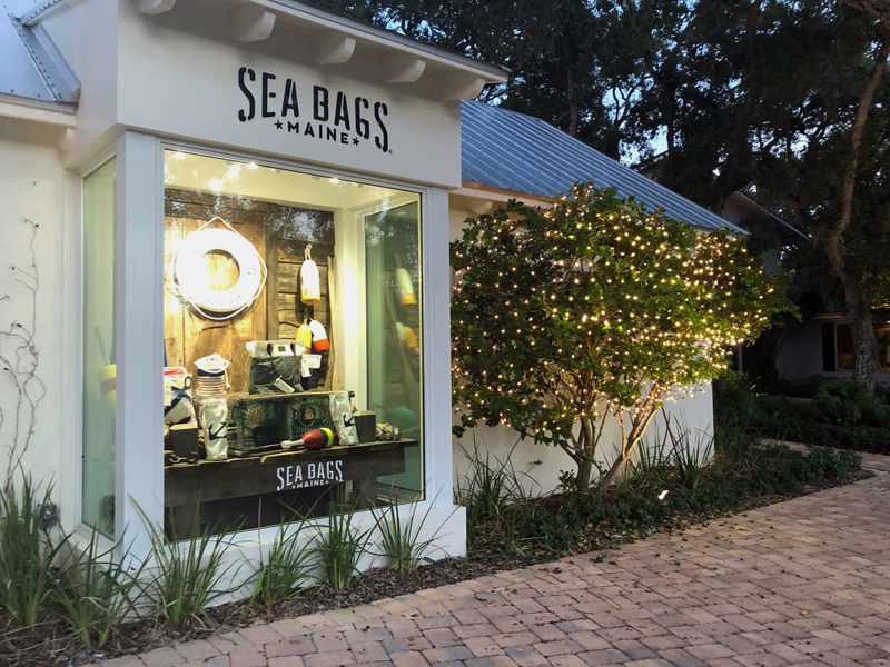 A Sea Bags store in Vero Beach, Fla. The company will open a shop in downtown Boothbay Harbor in April. (Photo courtesy Sea Bags)