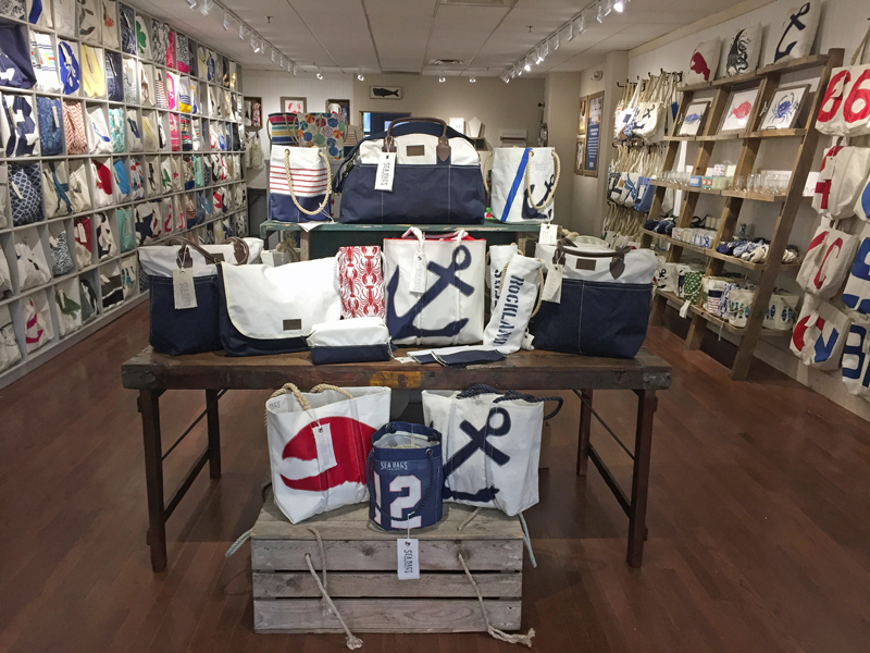 The interior of a Sea Bags store in Rockland. (Photo courtesy Sea Bags)