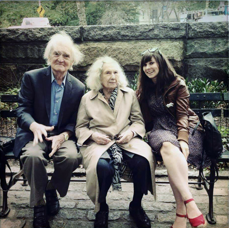 From left: John Morris; his wife, Francesca Morris; and their granddaughter, Hayley Morris, in 2013. (Photo courtesy Hayley Morris)