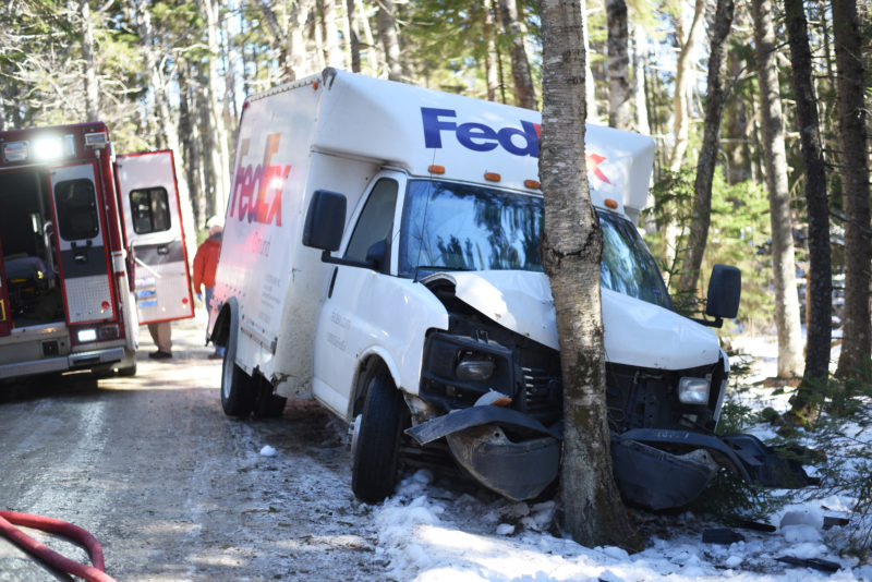 FedEx Truck Crashes in Bristol, Driver Taken to Hospital