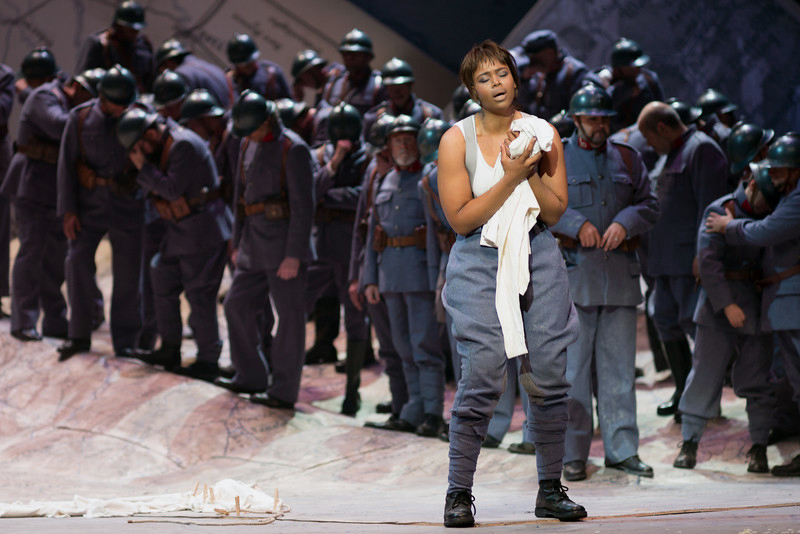 "South African soprano Pretty Yende stars as Marie in The Metropolitan Opera's production of Gaetano Donizetti's ""La Fille du Regiment,"" live-screened at Lincoln Theater in Damariscotta on Saturday, March 2. (Photo courtesy The Metropolitan Opera)"