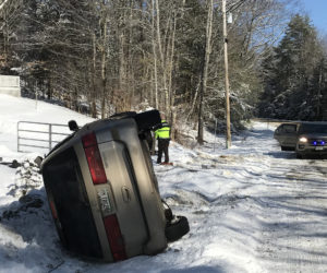 No Injuries in Nobleboro Rollover
