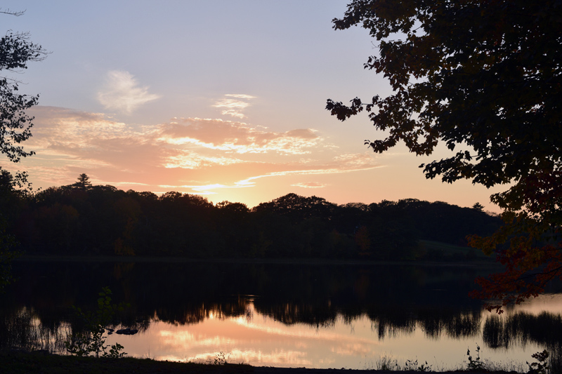 Clary Lake from the Jefferson boat launch in fall 2018. Midcoast Conservancy plans to apply for a federal grant to research the feasibility of fish passage to Clary Lake via the Clary Lake Dam. (Jessica Clifford photo, LCN file)
