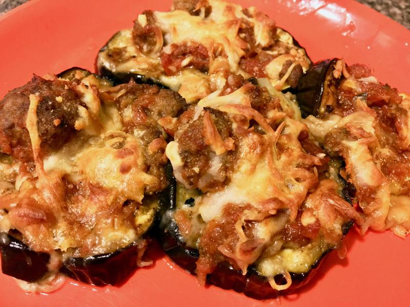 My version of (almost) keto eggplant Parm. (Suzi Thayer photo)