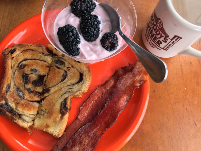 A keto breakfast, minus the cinnamon swirl toast. (Suzi Thayer photo)