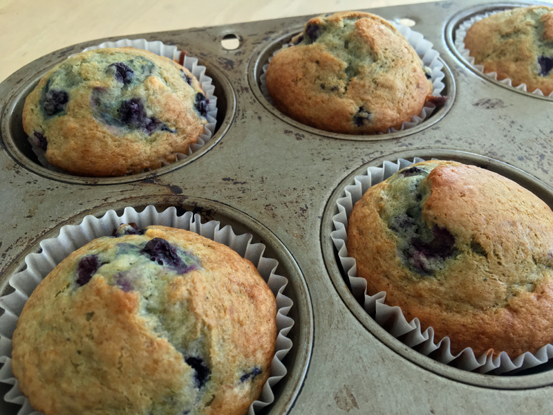Blueberry banana muffins fresh out of the oven. (Suzi Thayer photo)