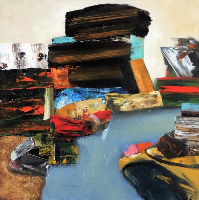 """Understanding Reality,"" an acrylic painting by Damariscotta artist Jaap Eduard Helder. (Image courtesy Jaap Eduard Helder)"