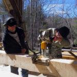 Timber Frame Construction Workshop at Nature Center
