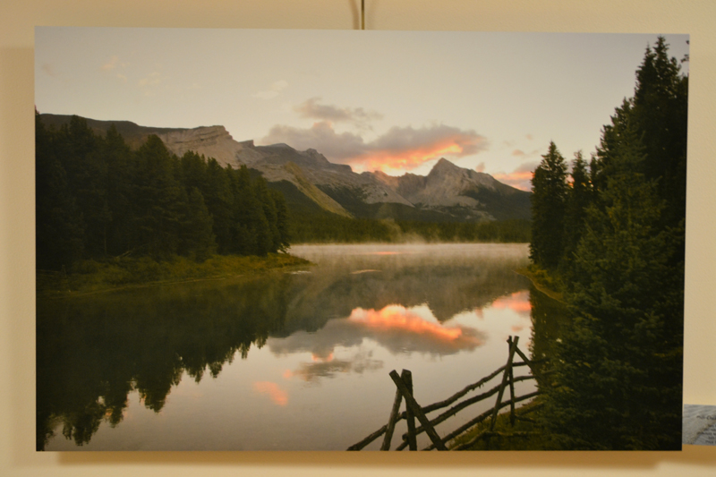 """Endless Chain Ridge,"" a large color landscape photograph on aluminum by Whitefield photographer Tony Marple. (Christine LaPado-Breglia photo)"