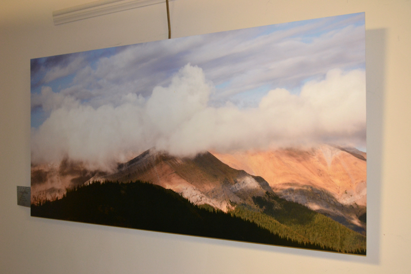 """Mount O'Hagan,"" a large color photograph on aluminum by Whitefield photographer Tony Marple, hangs in Marple's current show in the hall gallery at LincolnHealth's Miles Campus in Damariscotta. (Christine LaPado-Breglia photo)"
