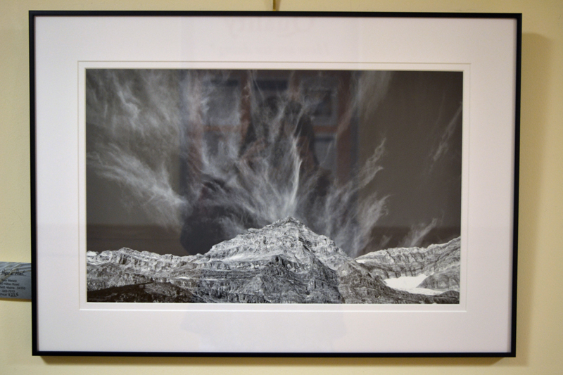 """Pope's Peak,"" a black-and-white framed photograph by Whitefield outdoors photographer Tony Marple. (Christine LaPado-Breglia photo)"