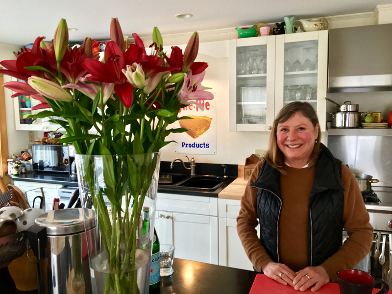 Chef and caterer Laura Cabot in her Waldoboro kitchen. (Suzi Thayer photo)