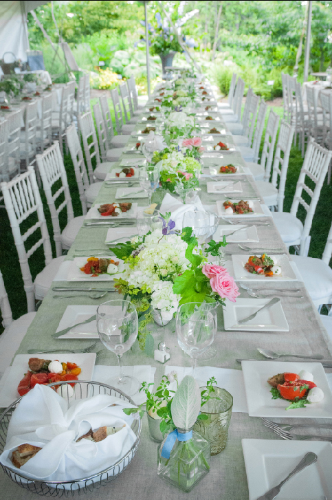 A Laura Cabot Catering event at the Coastal Maine Botanical Gardens in Boothbay. (Photo courtesy Michele Stapleton)