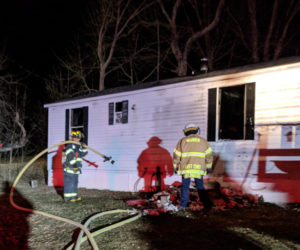 Fire Damages Waldoboro Mobile Home