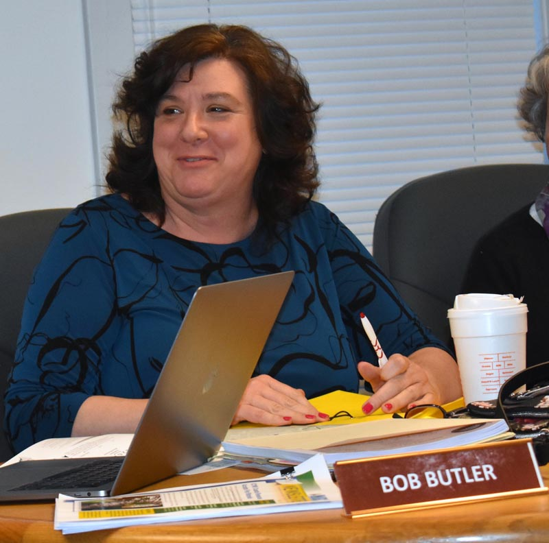 Waldoboro Town Manager Julie Keizer will stay on into 2024 under the terms of a five-year contract. The Waldoboro Board of Selectmen approved the contract Tuesday, April 23. (Alexander Violo photo)