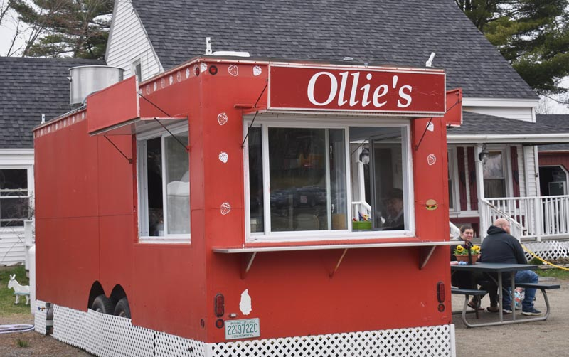 The new Ollie's food trailer is open for business in Waldoboro as of 11 a.m., Monday, April 22. (Alexander Violo photo)