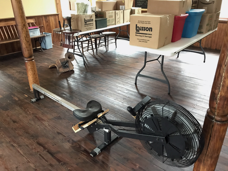 This rowing machine will be among the bargains at the 12th annual Attic, Basement, Closet Rummage Sale.
