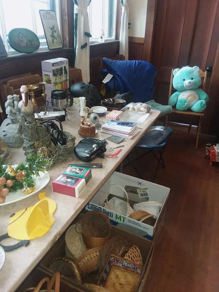 Some of the items featured at the indoor yard sale