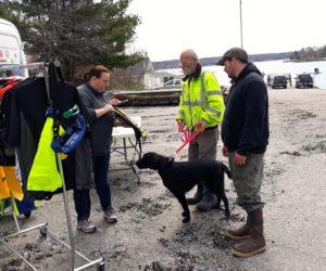 Lifejackets for Lobstermen Vans Visit Local Docks