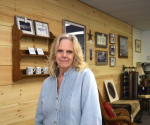 Trish L'Heureux co-owns The Chickadee Flea in downtown Damariscotta. The new shop in the Elm Street Plaza sells new and used furniture and home decor. (Jessica Clifford photo)