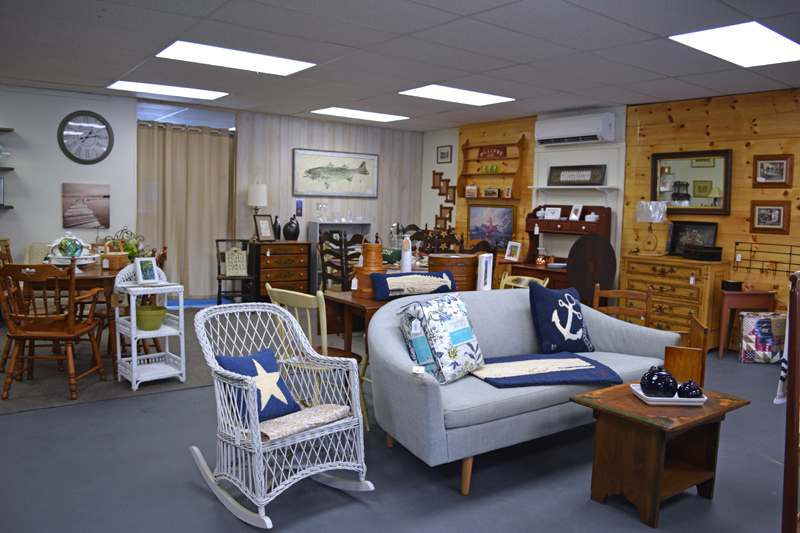The furniture in The Chickadee Flea is set up as it might be in a buyer's home. (Jessica Clifford photo)