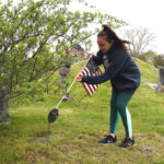 Edgecomb Students Place Flags at Veterans' Graves for Third Year