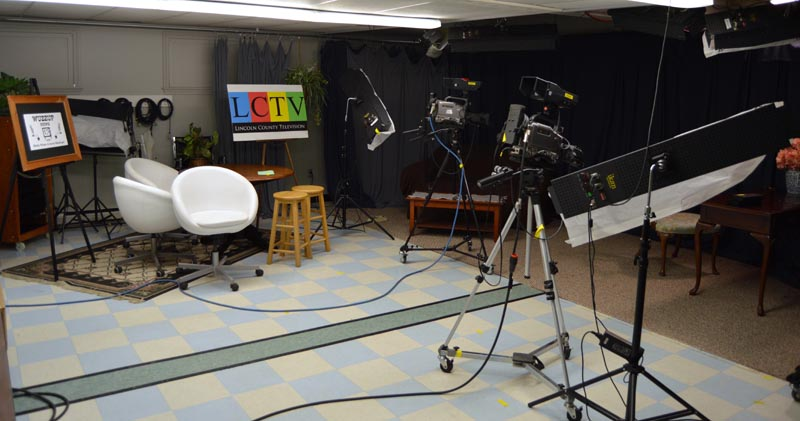 The newly renovated and reorganized production studio at Lincoln County Television in Newcastle. (Evan Houk photo)