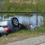 Car Hits Pole, Overturns into Brook in Waldoboro