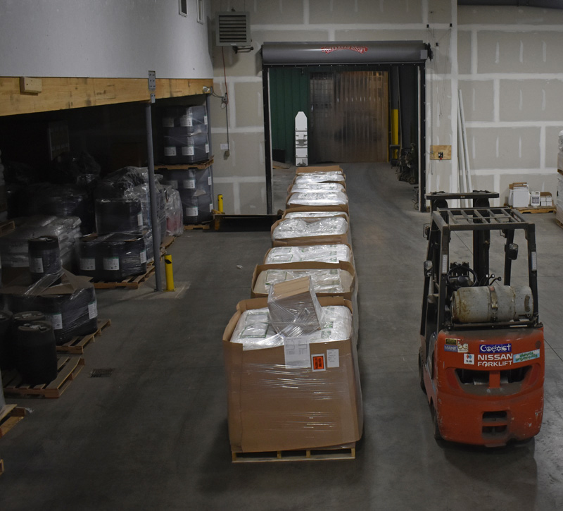The warehouse at Ocean Organics Corp., at 141 One Pie Road in Waldoboro. (Alexander Violo photo)