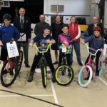 Alna-Anchor Lodge Gives Bikes for Books Presentation