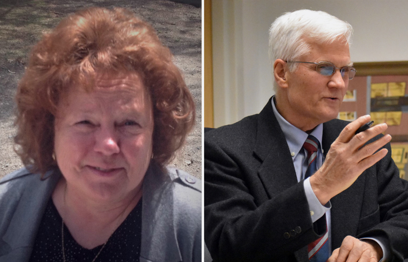 Sandra O'Farrell and Robert Butler, candidates for selectman in Waldoboro, will participate in a candidates forum at the municipal building Thursday, May 30.