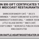 Win 11 Gift Certificates to Midcoast Restaurants at Heartwood