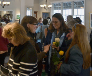Stars Fine Jewelry in Damariscotta is filled almost to capacity during the business's first-ever Spring Fling event on Thursday, April 25.