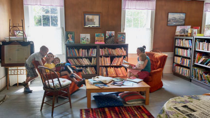 People enjoy relaxing and reading at Whitefield Library.