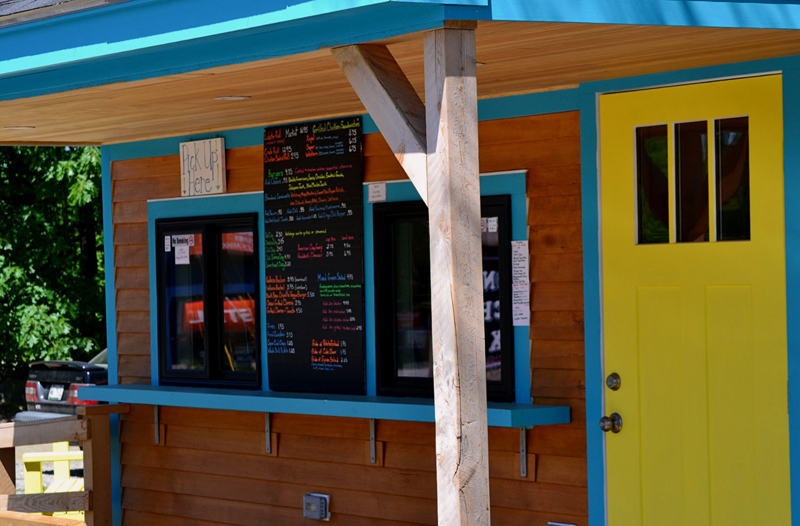 The colorful exterior of the newly renovated Larson's Lunch Box. (Nettie Hoagland photo)