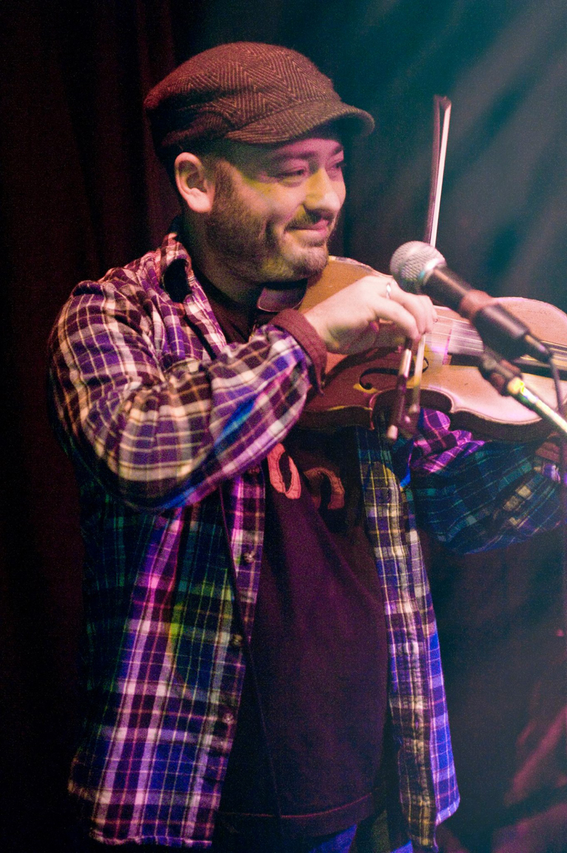 Damon Leibert performs on his fiddle. (Photo courtesy Andrew Browning)