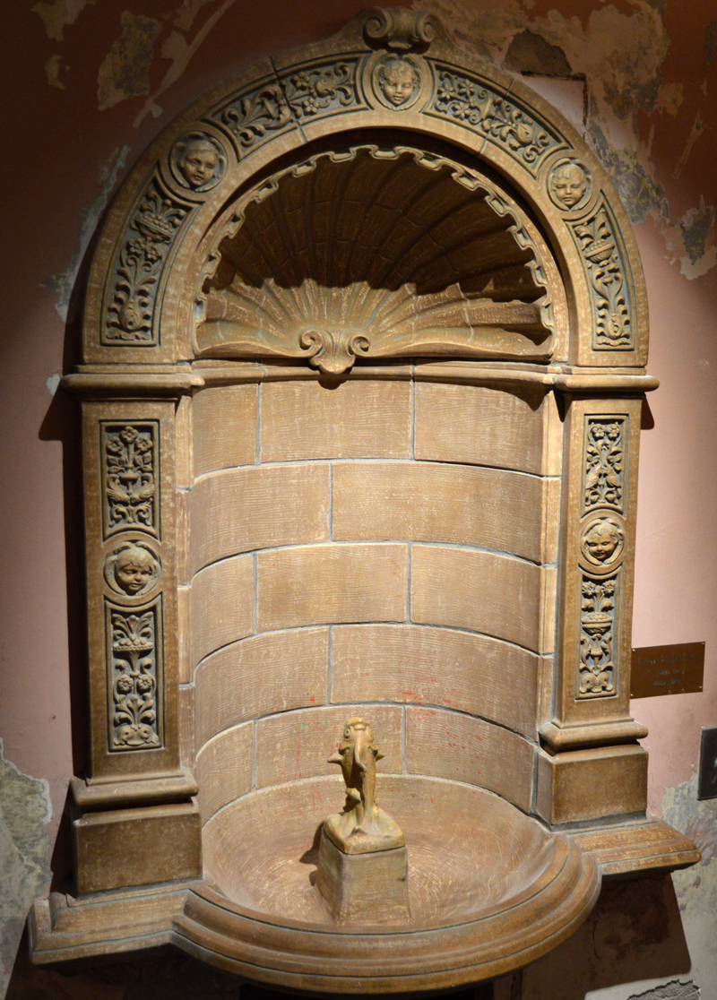The original fish water fountain in the Waldo Theatre entryway. (Evan Houk photo)