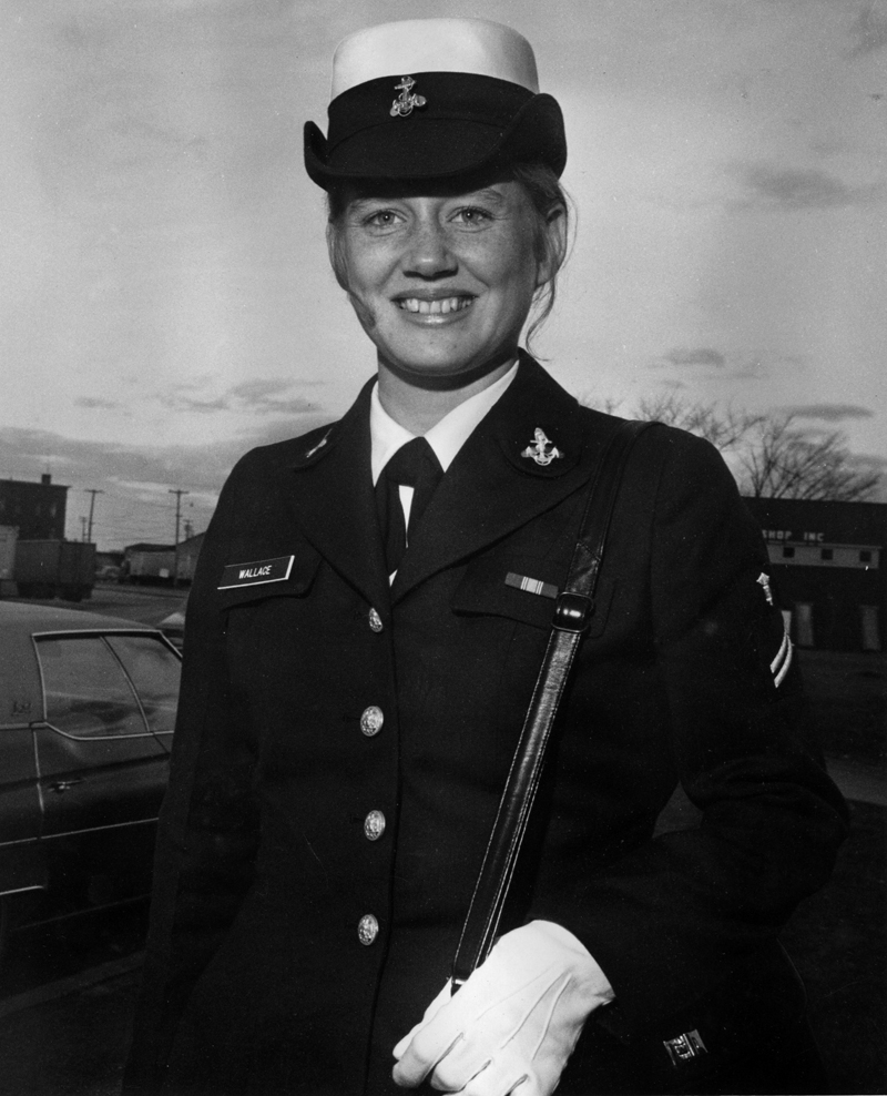 A 19-year-old U.S. Navy Seaman Apprentice Donna Wallace in 1973. Wallace would go on to serve nearly 34 years in the military before retiring and returning to her native Waldoboro. (Photo courtesy Donna Wallace)